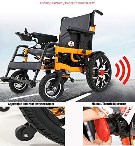 Blyi Silla de ruedas eléctrica Silla de ruedas plegable ...