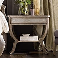Hooker Sanctuary 1 Drawer Nightstand in Silver