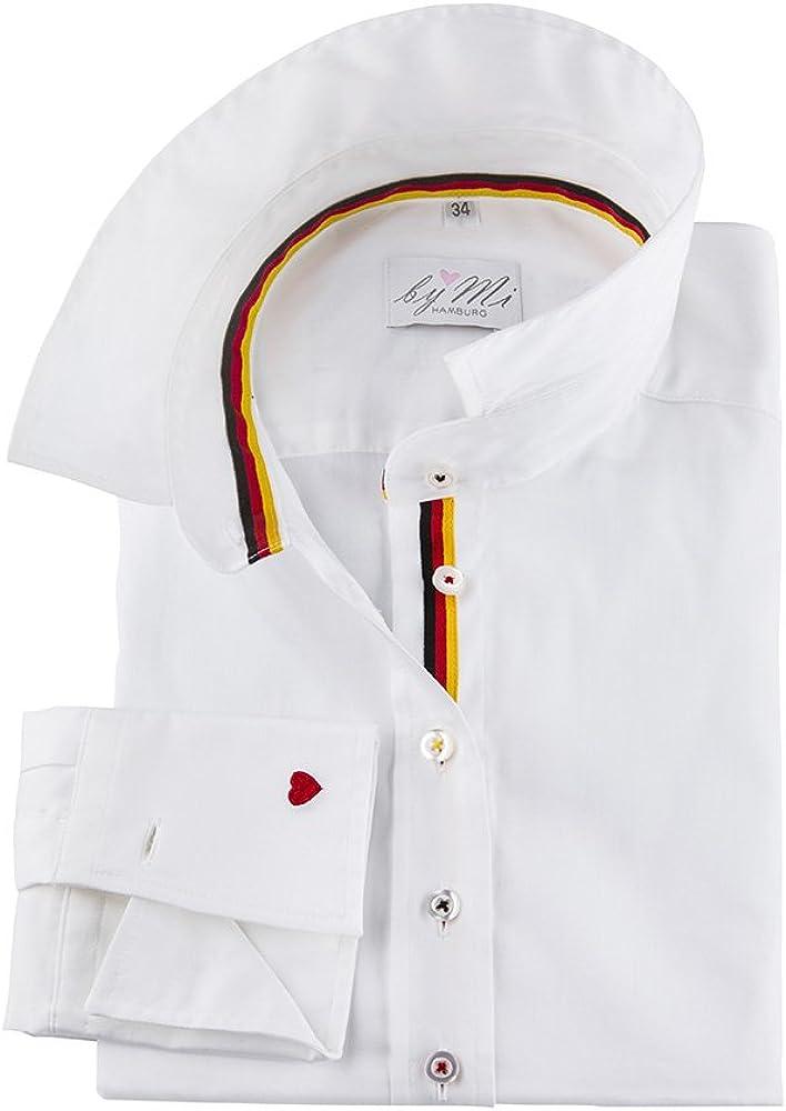 byMi Camisa de Manga Larga de algodón Hamburgo I Germany I WM I Moderna y Elegante Fabricada en Europa (34): Amazon.es: Ropa y accesorios