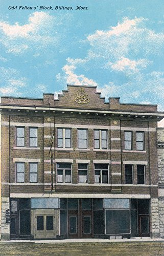 Billings, Montana - Odd Fellows' Block View (16x24 SIGNED Print Master Giclee Print w/Certificate of Authenticity - Wall Decor Travel Poster)
