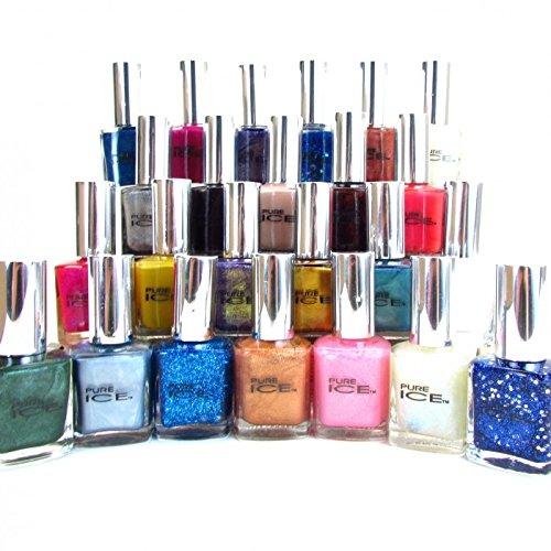 20 Pure Ice Nail Polish No repeat color's Great Fingernail Polish Lot By Bari ()