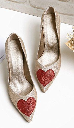 Sexy Aisun Femme De Chaussures Paillettes Mari Coeur 16q6T5wp