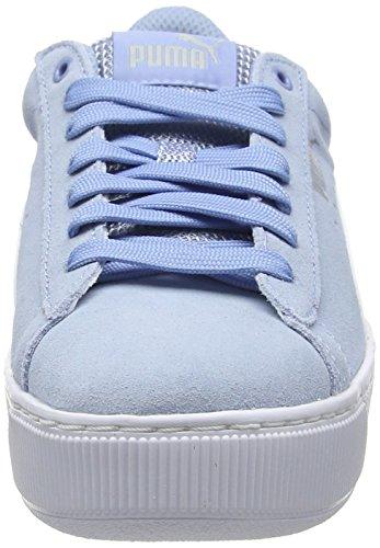 White Cerulean puma Puma Donna Vikky 17 Blu Sneaker Platform 6aa1wqp
