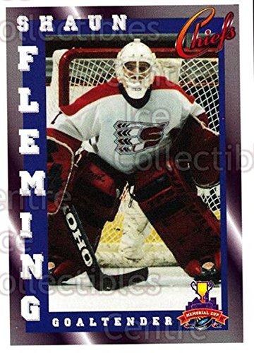 (CI) Shaun Fleming Hockey Business card 1997-98 Spokane Chiefs 26 Shaun Fleming