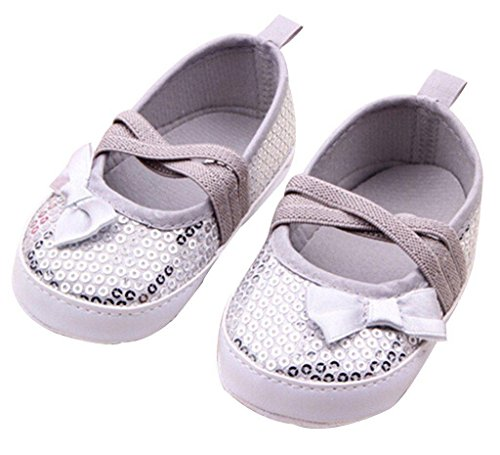 Toddler Prewalkers Sequin Bowknot Sneaker Baby Crib Shoes 12-18 Months