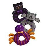 Halloween Bootiful Baby Ring Rattle (3 Pieces) 1 of each showing in picture! (3)