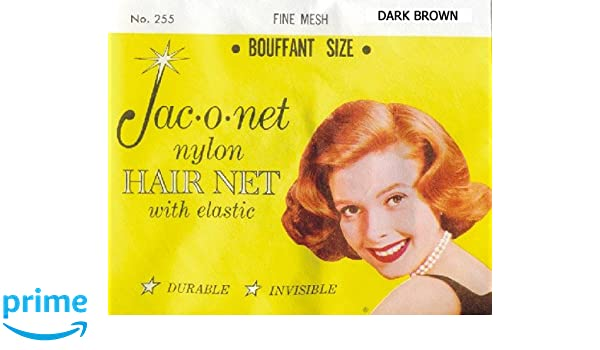 No 255  Jac-O-Net Bouffant durable and invisible Hair Net WHITE