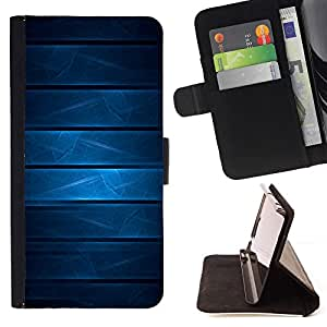GIFT CHOICE / Billetera de cuero Estuche protector Cáscara Funda Caja de la carpeta Cubierta Caso / Wallet Case for Samsung Galaxy Note 4 IV // Cool Blue Geomtetric Pattern //