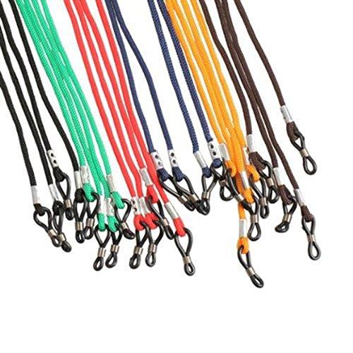 Qingsun 12 Pcs Colorful Safety Adjustable Eyewear Braided Neck Holder Colorful