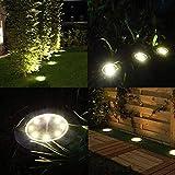 Solar Ground Lights - 8 Led Solar Garden Lights