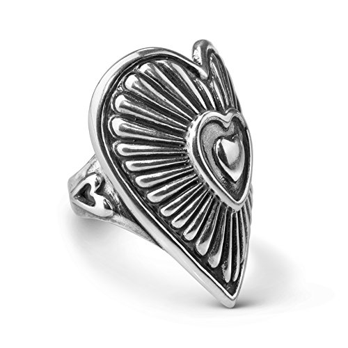 (American West Sterling Silver Bold Heart Ring Sizes 8)