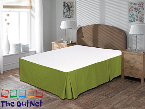TheOutNet Collection Egyptian Cotton 750TC 1 Piece Bed Skirt Full-XL Size 18'' Inch Drop Length Moss Solid - Moss Full 18' Drop