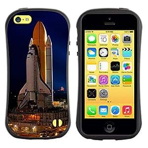 "Pulsar iFace Series Tpu silicona Carcasa Funda Case para Apple iPhone 5C , Space Ship Launch Rocket Nasa Vuelo Tecnology"""
