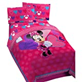 Disney Minnie Mouse Hearts Bow-tique Full Bed Comforter