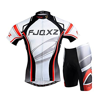 FJQXZ Cycling Jersey Set Bike Biking Outdoor Sports Clothing Short Sleeve Shirt Pants Bicycle