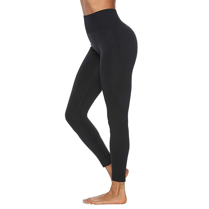 Pantaloni donna sport pinocchietti leggings sport push-up elastico