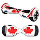 MightySkins Protective Vinyl Skin Decal for Hover Board Self Balancing Scooter mini 2 wheel x1 razor wrap cover sticker Canadian Flag