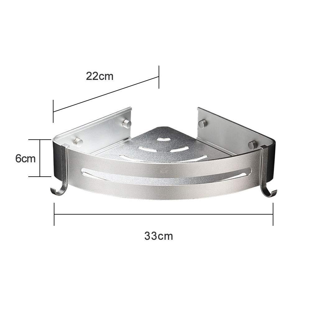 AJAR Accesorios de baño sin Perforaciones Space Aluminio triángulo Marco Toalla Colgante Esquina Hotel/hogar: Amazon.es: Hogar