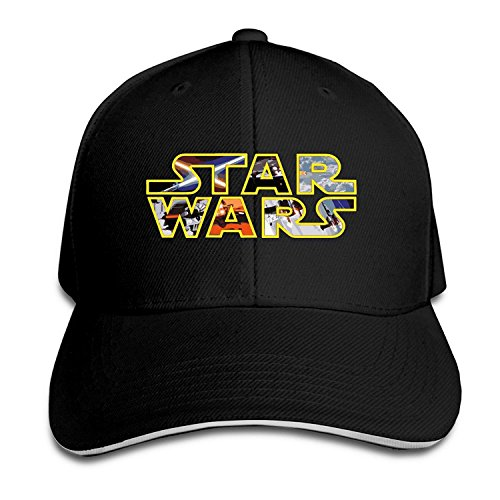 BestSeller Custom Star War Logo Adjustable Sandwich Peaked Baseball Caps Hats For Unisex (New Hope Halloween Events)