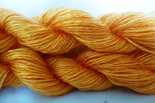 Synthetic Mohair (TWO PACK Orange Yellow Fingering Weight Yarn)