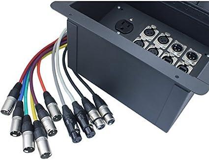 fbl12 + AC lámpara de suelo caja con 6 XLR hembra, 2 XLR macho, 2 Ethernet, 2 TRS + dúplex ca: Amazon.es: Instrumentos musicales