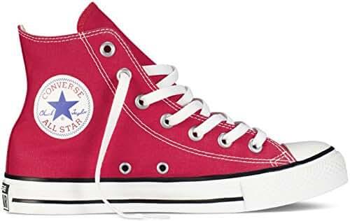 Womens Converse All Star Hi High Top Chuck Taylor Chucks Trainers - Red - 11.5