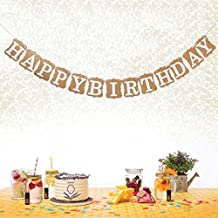 Tinksky Vintage Happy Birthday Bunting Banner Cardboard BD Party Decoration