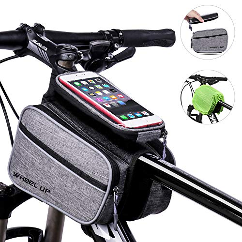 iOutdoor Products Bike Bags with 5 Pockets Bike Handlebar Bags Cycling Top Tube Pouch with Sensitive Touch Screen Phone Case for iPhone X/8/7 plus/7/6s/6 - Pockets Cycling
