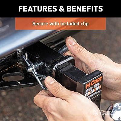 CURT 21400 Trailer Hitch Pin & Clip, 1/2-Inch Pin Diameter, Fits 1-1/4-Inch Receiver: Automotive