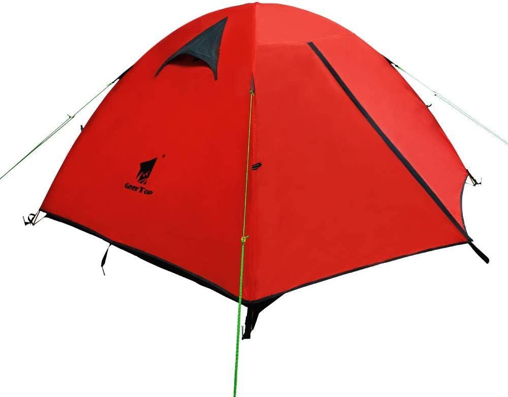 GEERTOP 3 Person 3 Season Waterproof Dome Backpacking Tent for Camping Hiking Travel Climbing Easy Set Up