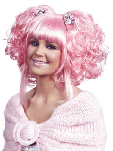 Enigma Wigs Women's Karmae, Pink, One Size (Pink Clown Costume)