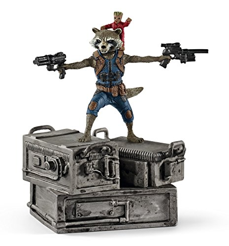 Schleich Marvel Rocket & Groot 3D Diorama Character (Rocket Raccoon Figure)