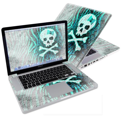 """Mightyskins Protective Skin Decal Cover for Apple MacBook Pro 15"""" with 15.4 inch screen wrap sticker skins Zebra Skull"""