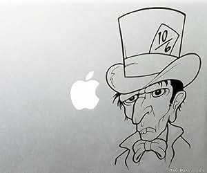 Alice in Wonderland Mad Hatter MacBook Laptop Apple Vinyl Decal Sticker Story Book Fairytale Grumpy 10/6 Bowtie Tie Looking Glass Tea Party