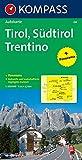Carta panoramica n. 358. Tirolo. Alto Adige, Trentino-Tirol, Südtirol, Trentino 1:50.000. Con carta stradale