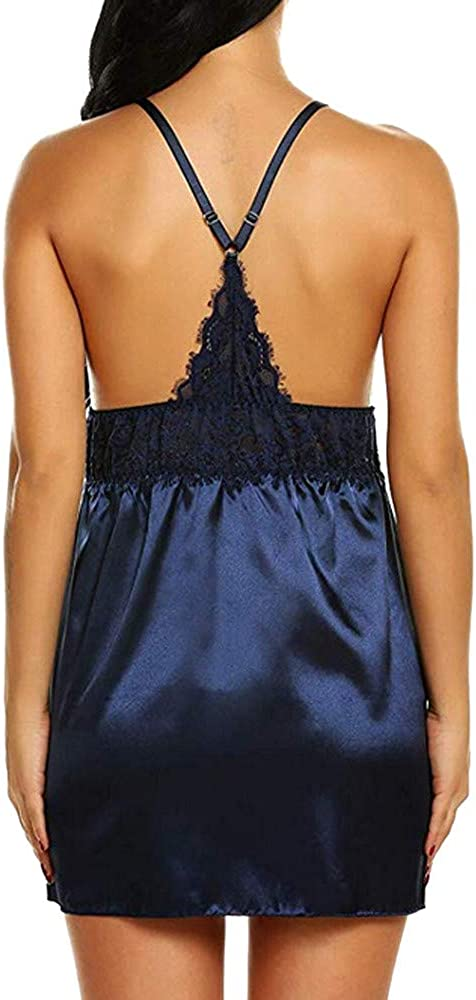 XXXL Plus Size Bow Lace Nightwear Lingerie Temptation Babydoll Underwear Nightgown Navy L XL M XXL Red S