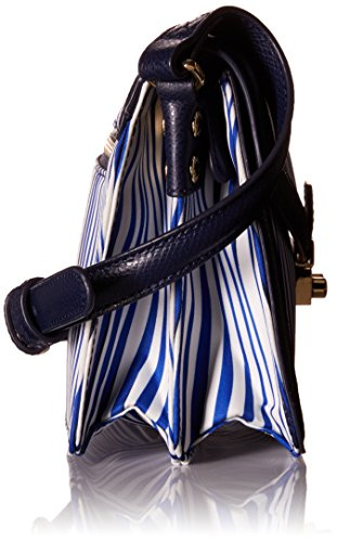 Navy Wavy Crossbody Twill Polyester Bradley Stripe Tess Vera Sqw0F4B