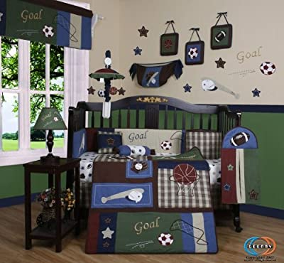 Boutique Classic Sports 13pcs Crib Bedding Sets by GEENNY