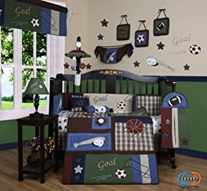 GEENNY Classic Sports 13PCS CRIB BEDDING SETs