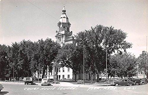 - Court House Square York, Nebraska postcard
