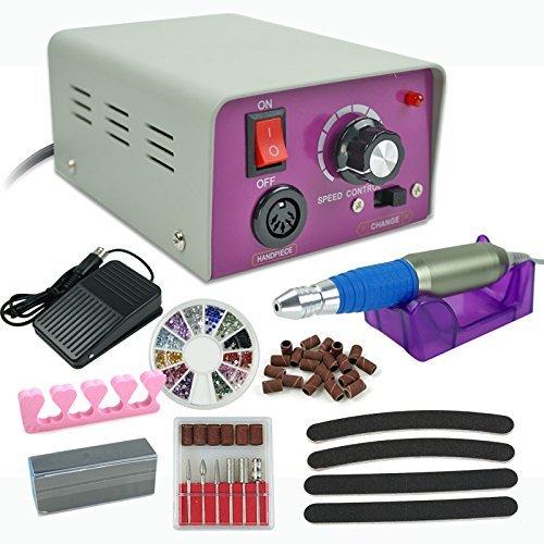 agptek Complete Electric Nail Drill Kit Set Art File Bit ...