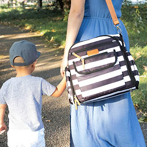 Blissly Convertible Baby Diaper Bag Tote: Bags for Boy, Girl, Twin, Mom & Dad