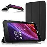 Cooling ASUS MeMO Pad 7 ME170CX ME170 Case, Ultra Slim Shell Leather Case Cover with Auto Sleep / Wake Feature for ASUS MeMO Pad 7 ME170CX ME170C ME170 K012, ASUS Fonepad 7 FE170CG FE170 (Black)