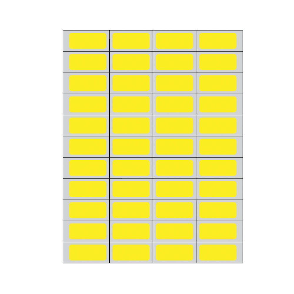 PDC Healthcare DPSL-PC5-2 Piggyback Paper Labels for Laser Printers, Piggyback, Permanent Adhesive, 1.75'' Width x 0.75'' Length, Yellow (Box of 11000)