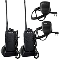 Retevis RT1 2 Way Radio 10W VHF 136-174 MHz 16CH 3000mAh Two Way Radio with Earpiece(2 Pack) and 2 Pin Speaker Mic (2 Pack)