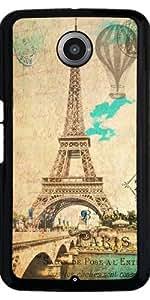 Funda para Motorola Nexus 6 - Eiffel Torre Vendimia París by J McCool
