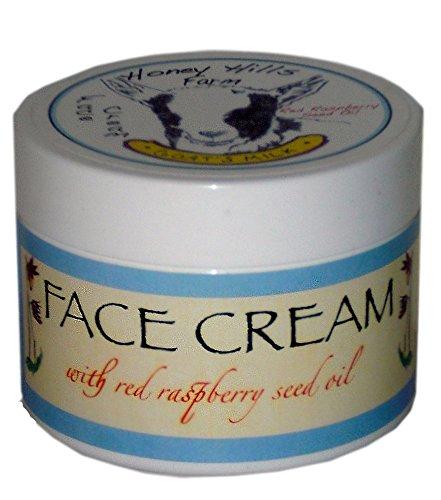 Crème de visage de lait de chèvre avec l'huile de pépins de framboise rouge et naturel Alpha Hydroxy