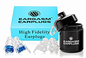 Eargasm High Fidelity Earplugs for Concerts Musicians Motorcycles Noise Sensitivity Conditions and More - Blue