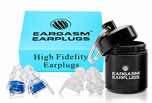 Eargasm High Fidelity Earplugs for Concerts Musicians Motorcycles Noise Sensitivity Conditions and More (Ear Plugs Come in Premium Gift Box Packaging) - Blue