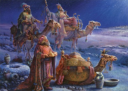 Three Kings - Box of 18 Christmas - Three Wise Cards Christmas Men
